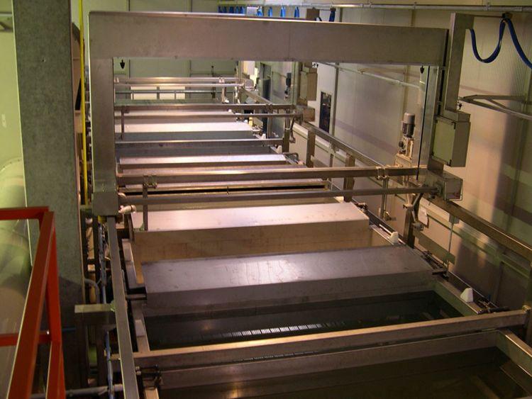 Treatment washing machine surface conversion