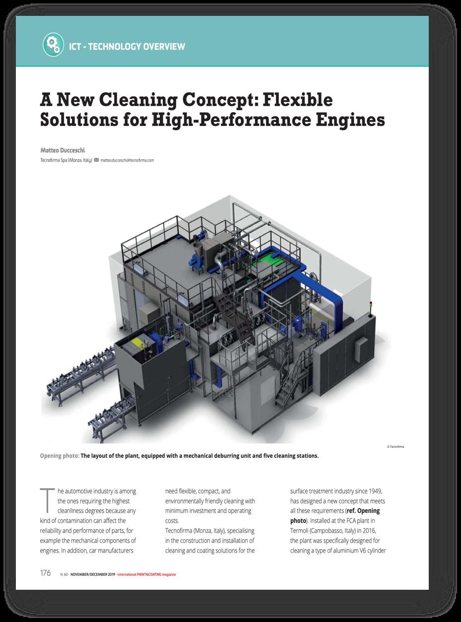 Copertina di Un nuovo concept di lavaggio: soluzioni flessibili per motori ad alte performance