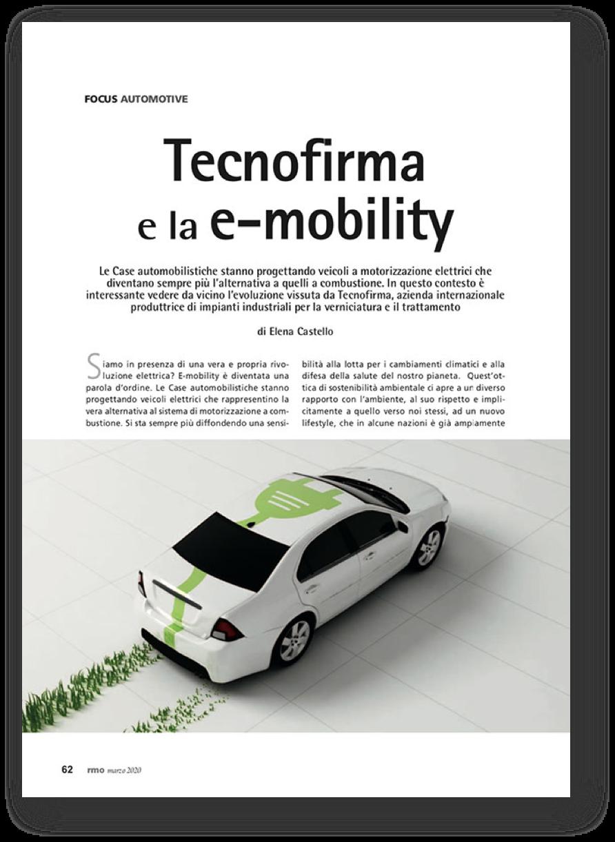 Copertina di Tecnofirma e la e-Mobility