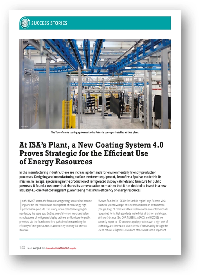 Copertina di At ISA's Plant, a New Coating System 4.0 Proves Strategic for the Efficient Use of Energy Resources