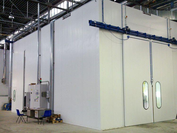 Liquid spray coating machine dry booths