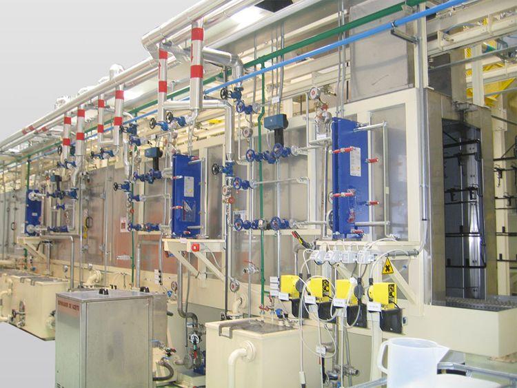 Pretreatment coating machine continous cycle